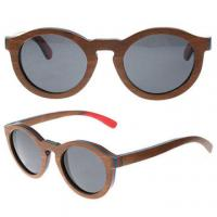 Buy cheap Polarized Lens Wooden Sunglasses Skateboard Sunglasses Uv400 Protection Round from wholesalers