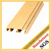 Buy cheap golden color copper alloy extrusion profile sections for windows and doors from wholesalers