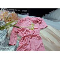 Buy cheap Embroidered Pattern Luxury Bath Robes For Hotel / Home Jacquard Cotton Fabric from wholesalers