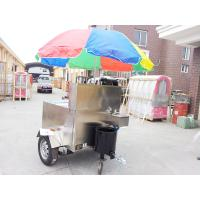 Buy cheap Mobile Fryer Food Stainless Steel Hot Dog Cart With Small Wheels from wholesalers