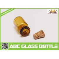 Buy cheap 10ml Amber Empty Glass Bottles With Cork Stoppers product