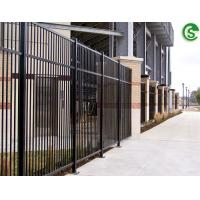 China See through spear top tubular steel fencing design library security fencing on sale