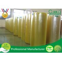 Buy cheap Transparent Bopp PVC Film Roll , Water Activated Packing Tape Jumbo Roll 980/1280/1620mm from wholesalers