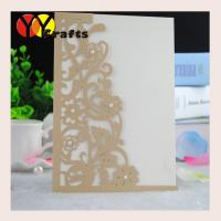 Buy cheap Laser cut wedding invitation card wholesale or retail with pearl from wholesalers