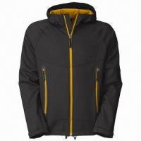 Buy cheap 2013 men's softshell hoodie jacket, wind- and water-resistant outdoor clothing from wholesalers