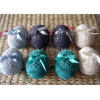 Buy cheap Acrylic Crochet Christmas Ornaments Decoration , 6cm Hand Crochet Easter Eggs from wholesalers
