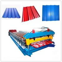 Buy cheap Full Automatic Color Glazed Tile Roll Forming Machine 33ksi - 50 Ksi Yield Stress from wholesalers