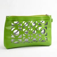 Buy cheap Any color die cutting leather hand bag wholesale bags cosmetic bag from wholesalers