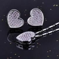 Buy cheap Sterling Silver Micro Pave Jewelry Set with CZ Stone, Nickel and Lead-free from wholesalers