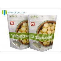 Buy cheap Matte Effect ziplock custom stand up pouches , Dried Nuts flat pouch packaging product