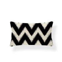 Buy cheap decorative Cushion Cover Geometry cushion pillow cover Nordic Decoration Throw Pillow Covers Zigzag 30X50 Cotton Linen from wholesalers