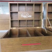 Buy cheap Wood Clothing Store Fixtures , Table Top Lockable Cotton Socks Display Case from wholesalers