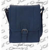 Buy cheap Classic Navy Messenger Bag , Cross Body PU Shoulder Bags For Office Male from wholesalers