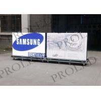 Large Flexible Outdoor Advertising LED Display TV High Contrast Dust Proof