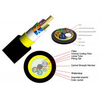Buy cheap Overhead Electric Power ADSS Armored Fiber Optic Cable No Armoured Track Resistant Outer Sheath from wholesalers