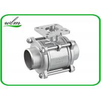 Buy cheap Three Piece Sanitary Ball Valves Stainless Steel 304 Or 316L With High Mounting Pad from wholesalers
