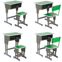 Buy cheap Wooden College Table and Chair Student Modern Classroom Furniture Set Environmental School Library Furniture from wholesalers