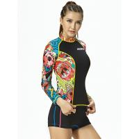 Buy cheap Two piece surf suit ladies wetsuits jacket and shorts 2.5MM neoprene yellow gray on sale from wholesalers