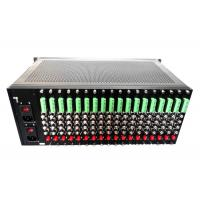 Buy cheap 4U rack-mount chassis for video to fiber converter cards dual power from wholesalers