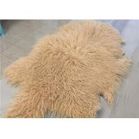 Buy cheap Purple Long Hairs Mongolian Sheepskin Rug Windproof For Making Winter Garment from wholesalers