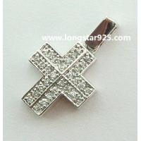 Buy cheap 925 silver cross pendant, cross silver jewelry from wholesalers