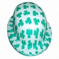 Buy cheap Party hat, printed with shamrock, fashionable PVC hat from wholesalers
