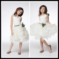 Buy cheap Vintage White Unique Flower Girl Dresses Floor Length Kids Ball Gowns from wholesalers