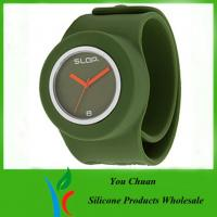 Buy cheap OEM / ODM Slap Watches, Silicone Wristband Watch With Colorful Dial from wholesalers