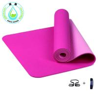 Buy cheap RUNSEN 6mm Thick TPE Printing Yoga Roll Mat from wholesalers
