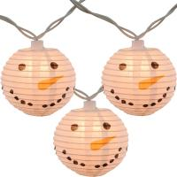 Buy cheap Led Paper Lanterns Hanging Indoor String Lights 8 Cm Square Snowman Shaped from wholesalers