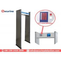 Buy cheap 6 Detecting Zones Metal Detector Walk Through Gate For Shops / Hotels / Factories from wholesalers