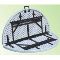 Buy cheap 4 foot round fold in half table/4 ft portable plastic folding table from wholesalers