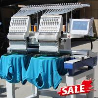 China Two Heads Wonyo Computer 3D Embroidery Machine For Caps , Long Life Time on sale