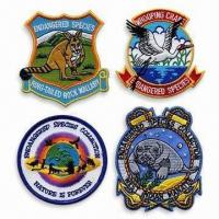 Buy cheap Embroidery Badges/Patches, Small Orders are Accepted product