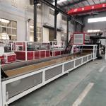 Buy cheap LVT Vinyl Plank Floor Production Line PLC Control,Back glue self-adhesive luxury vinyl plank flooring making machine from wholesalers
