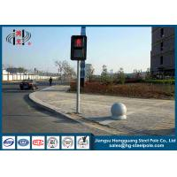 Buy cheap Hot Roll Steel Traffic steel light poles  , Traffic Light Post for Crosswalk from wholesalers
