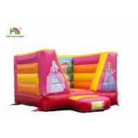 Buy cheap 0.55mm PVC Inflatable Princess Bounce Castle With Blower For Child 85kg Weight from wholesalers