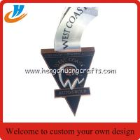 Buy cheap Gold silver copper metal medals plated zinc alloy die cast sports medals wholesale from wholesalers