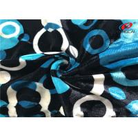 Buy cheap Printed Stretch Knitted Velvet Fabric Polyester Spandex Fleece Fabric For Ladies Dress from wholesalers