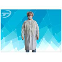 Buy cheap Non - Woven Disposable Lab Coats With Velcro Fastening Soft And Breathable from wholesalers