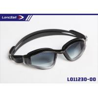 Buy cheap Contest Style Comfortable Uv Protection Swim Goggles With Mirror Coating Black Pc Lens from wholesalers