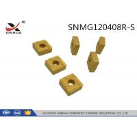 Buy cheap SNMG120408 Cemented Carbide Inserts S Chipbreaker For High Feed Machining from wholesalers