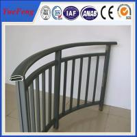 Buy cheap aluminum handrail for stairs/ aluminum balcony railing/ aluminum handrail brushed factory from wholesalers
