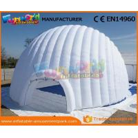 Buy cheap Large PVC Coated Nylon Or PVC Tarpaulin Inflatable Igloo Tent Inflatable Dome Tent For Outdoor from wholesalers