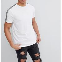 Buy cheap White Trendy Oversized T Shirts O Neck Classic Contrast Stitching Design from wholesalers