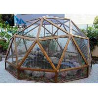 Buy cheap Easy Assembled Geodesic Dome Greenhouse Selectable Size Soft PVC Walls & Glass Walls from wholesalers