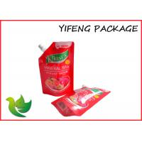 Buy cheap Recyclable Plastic Spout Pouch Red Spout on Corner For Jelly from wholesalers