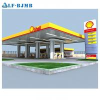 Buy cheap High Standard Design Light Weight Steel Space Frame Service/Gas/Petrol Station Canopy from wholesalers