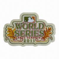 Buy cheap Embroidered patch/emblem/applique, customized designs are accepted from wholesalers