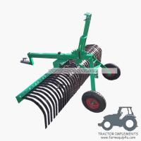 Buy cheap 6ALRW - ATV Landscape Raker with rear wheel, height adjustable 6ft from wholesalers